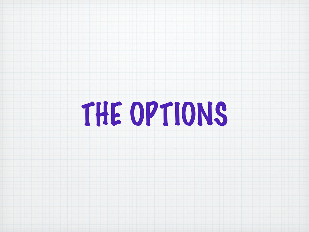 THE OPTIONS
