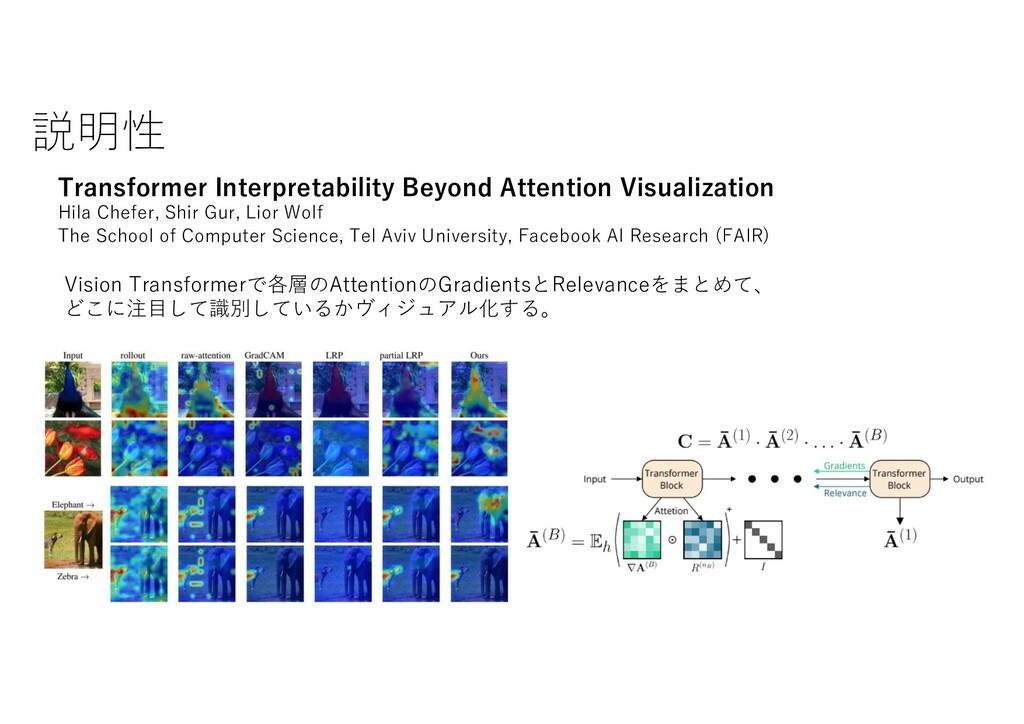 説明性 Transformer Interpretability Beyond Attenti...