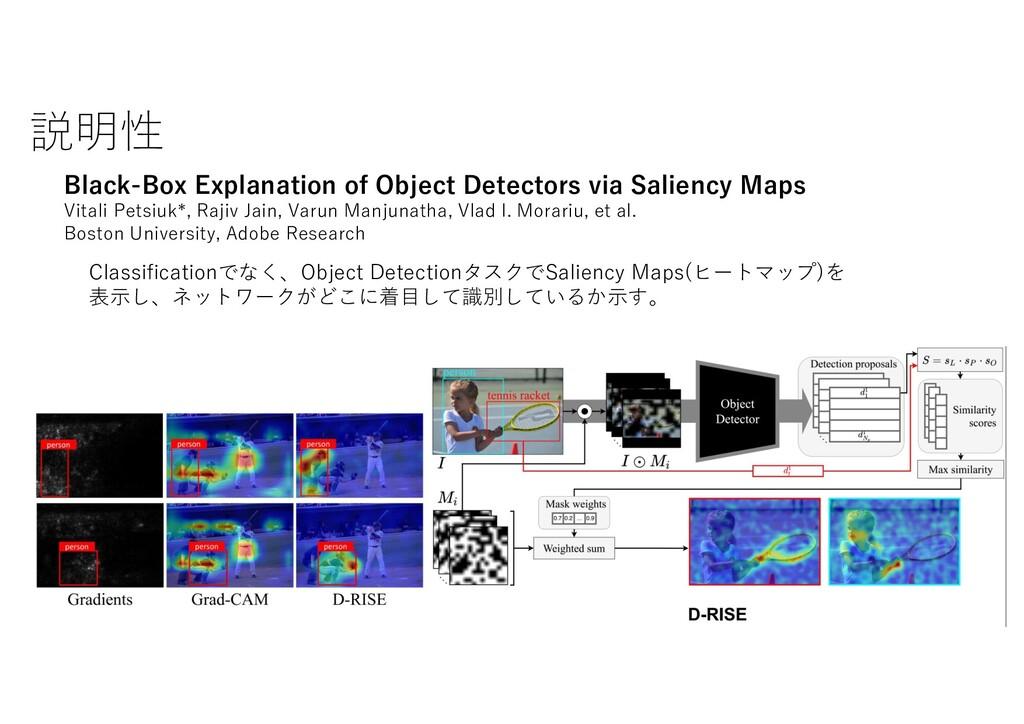 説明性 Black-Box Explanation of Object Detectors v...