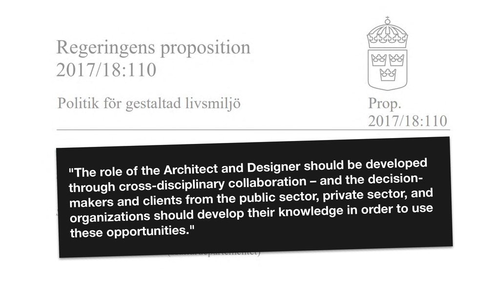 """""""The role of the Architect and Designer should ..."""