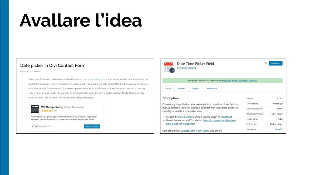 Avallare l'idea