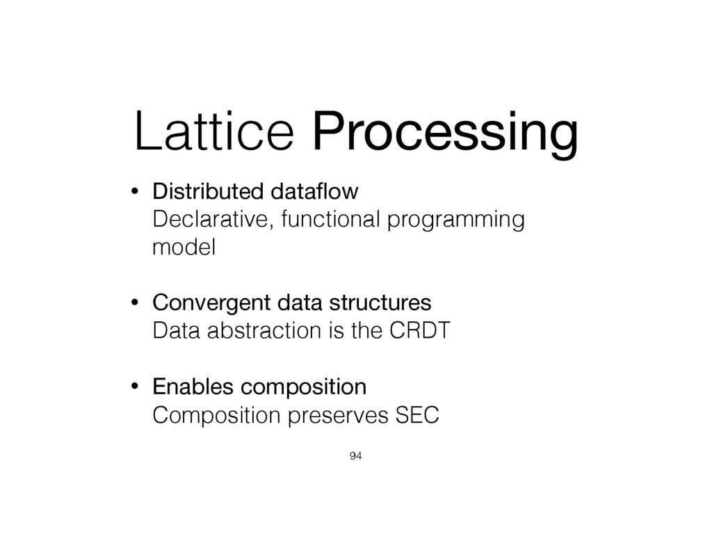 Lattice Processing • Distributed dataflow Decla...