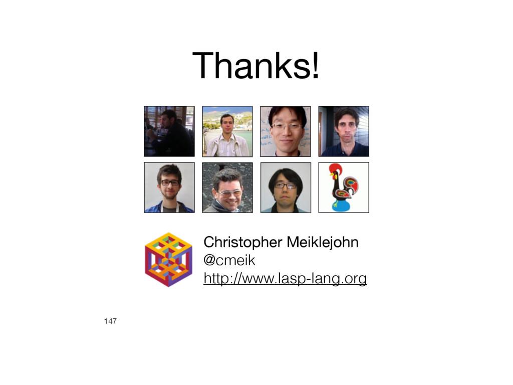 147 Christopher Meiklejohn  @cmeik http://www.l...