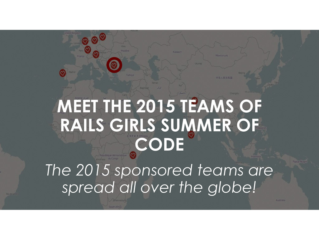 MEET THE 2015 TEAMS OF RAILS GIRLS SUMMER OF CO...