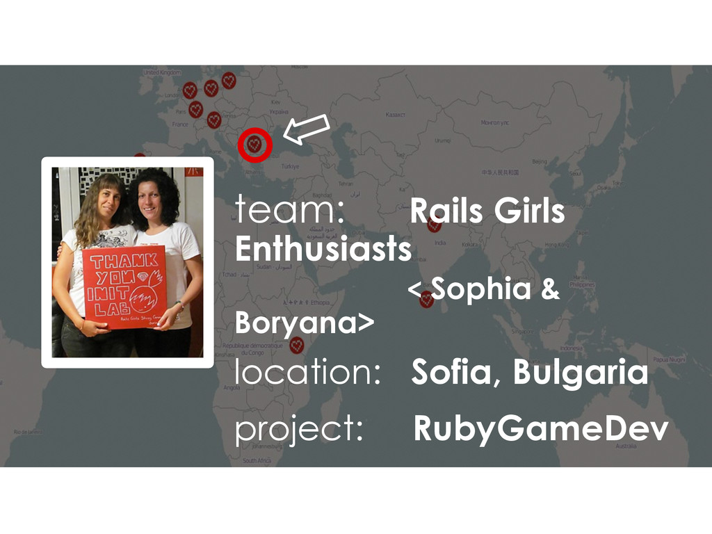 team: Rails Girls Enthusiasts < Sophia & Boryan...