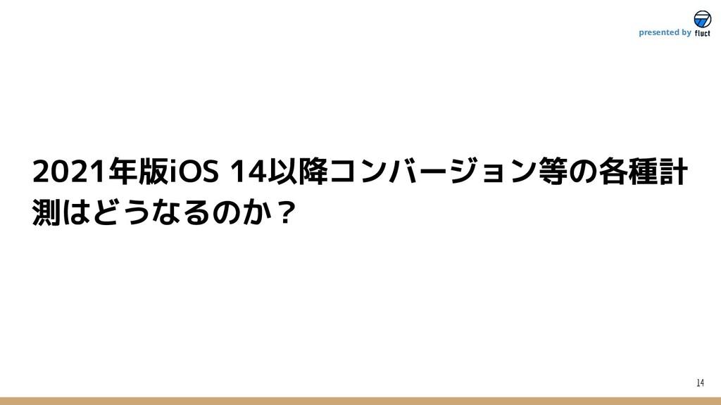 2021年版iOS 14以降コンバージョン等の各種計 測はどうなるのか? 14 present...