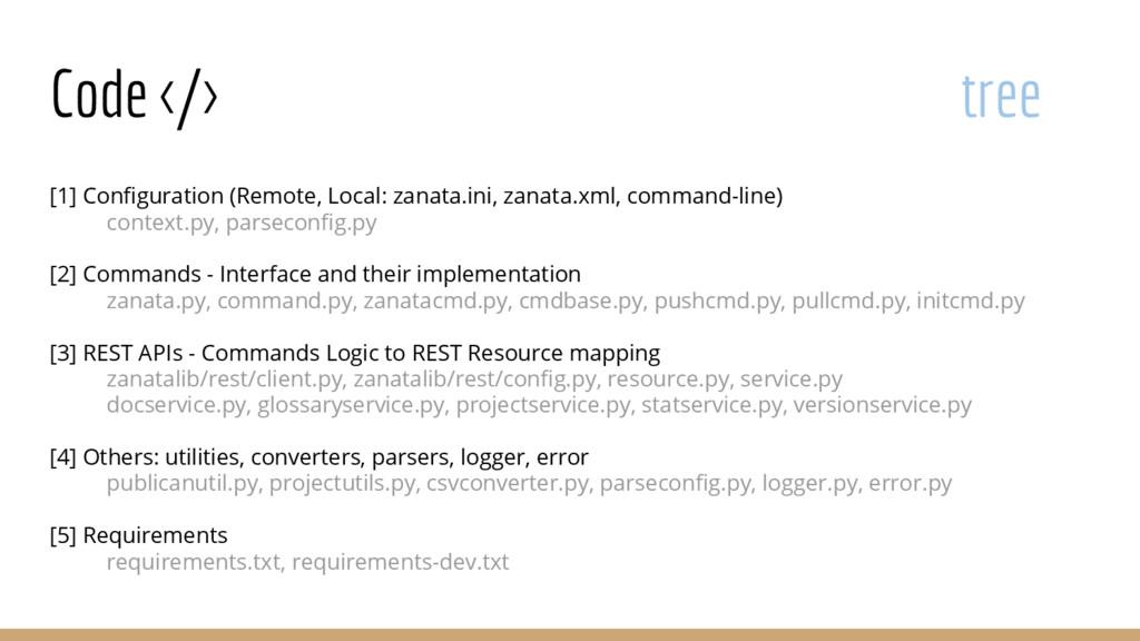 Code </> tree [1] Configuration (Remote, Local:...