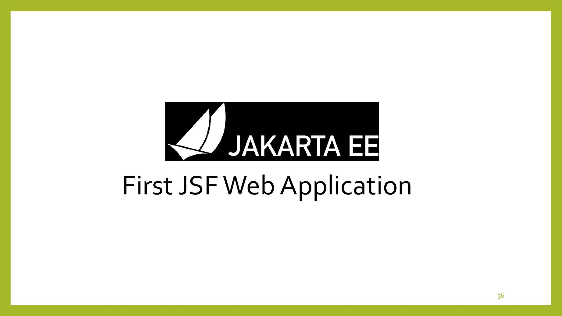Exercise of First JSF Web Application • Menu Fl...
