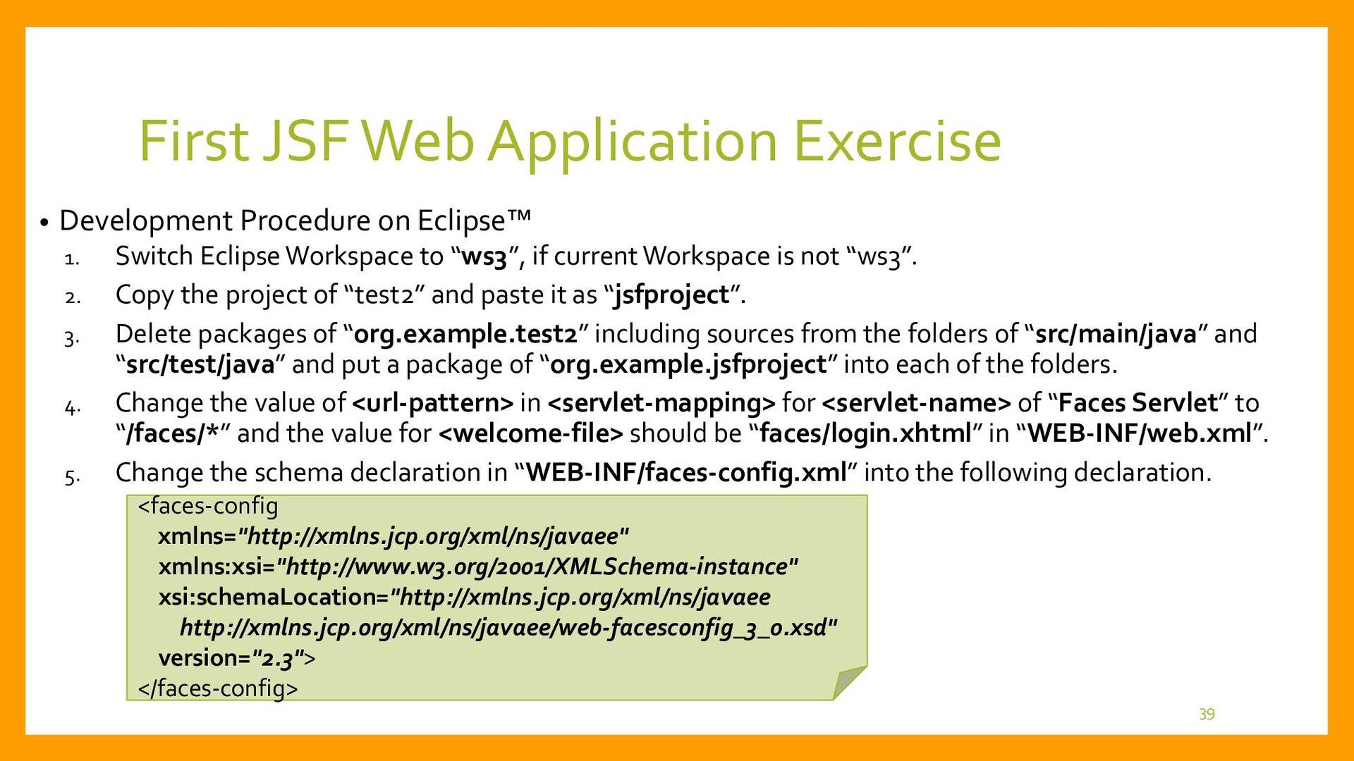 First JSF Web Application Development • Project...