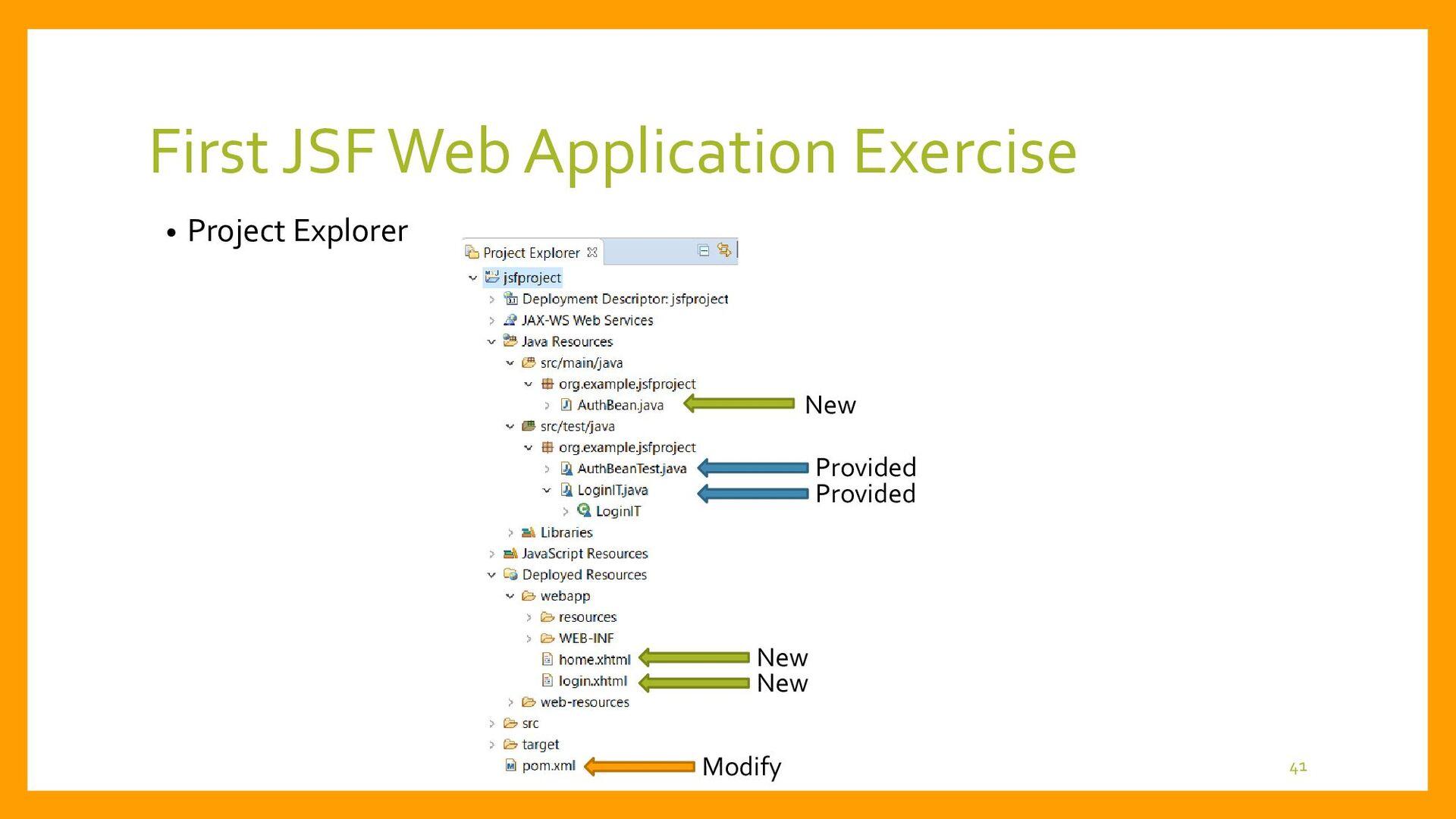 First JSF Web Application Development • System ...