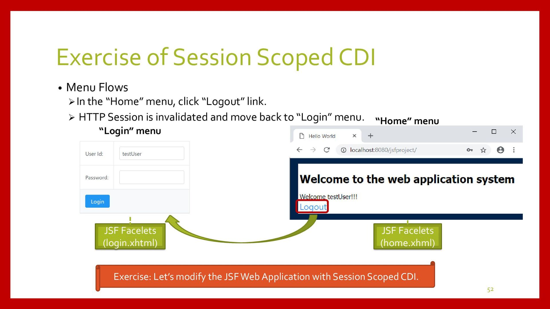 Session Scoped CDI Development • Development Pr...