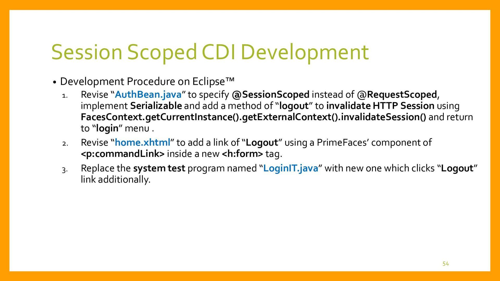 Session Scoped CDI Development • System Test Pr...
