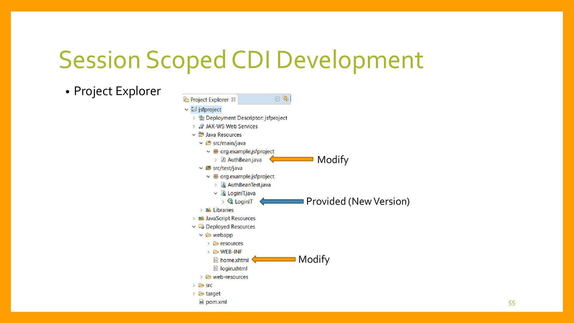 Session Scoped CDI Jakarta EE Container Present...
