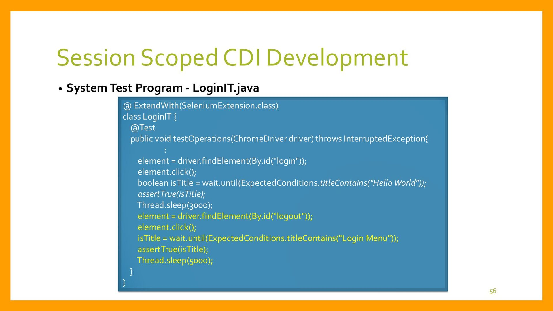 Clustered AP Servers Session Scoped CDI • Sessi...