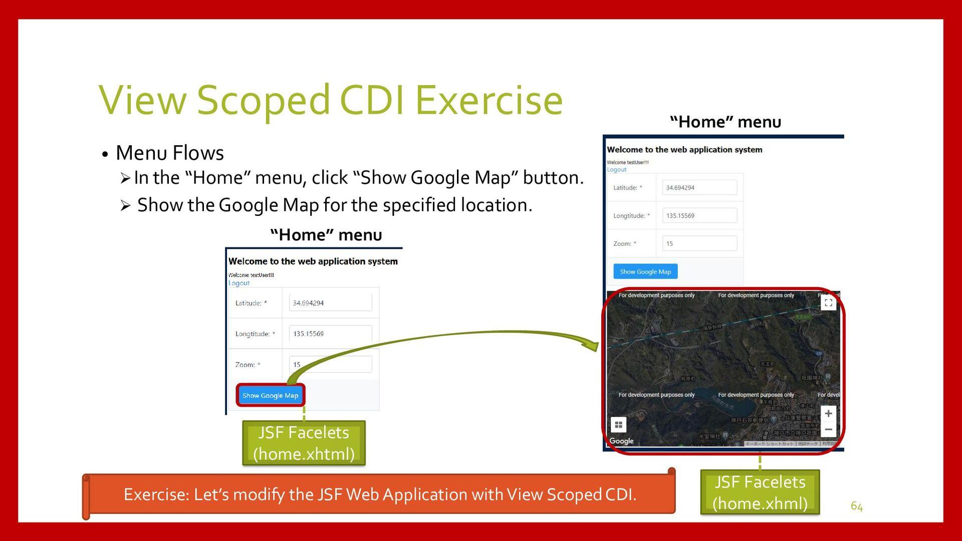 View Scoped CDI Development • Development Proce...