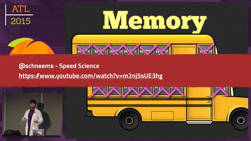 @schneems - Speed Science https:/ /www.youtube....