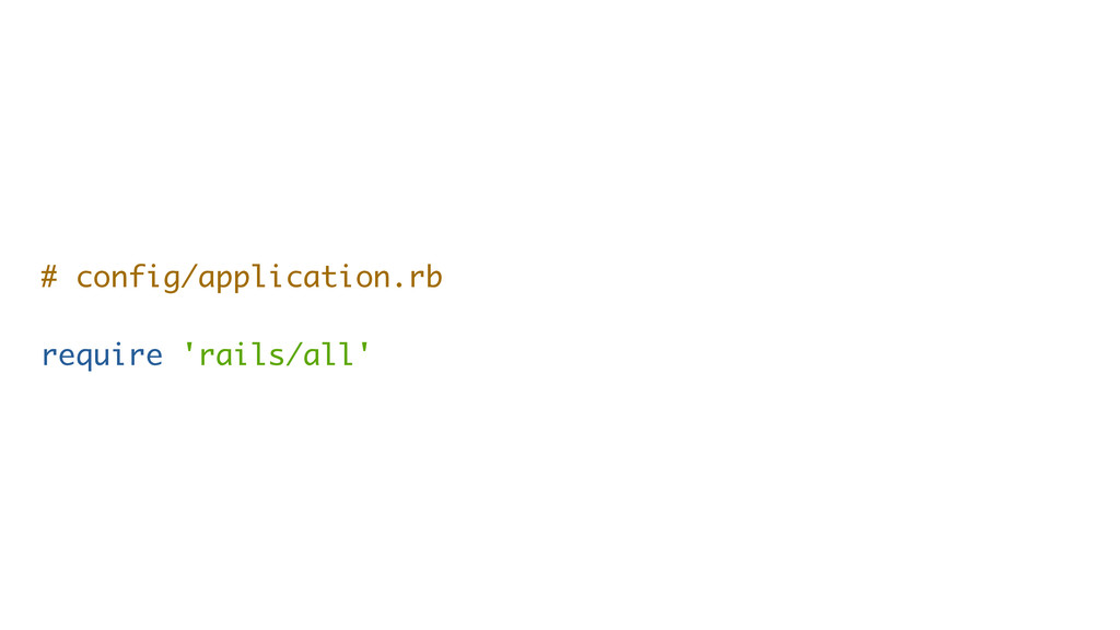 # config/application.rb require 'rails/all'