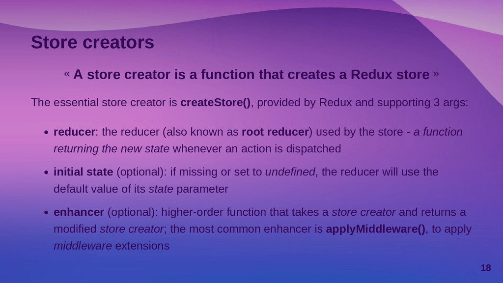 Store creators « A store creator is a function ...