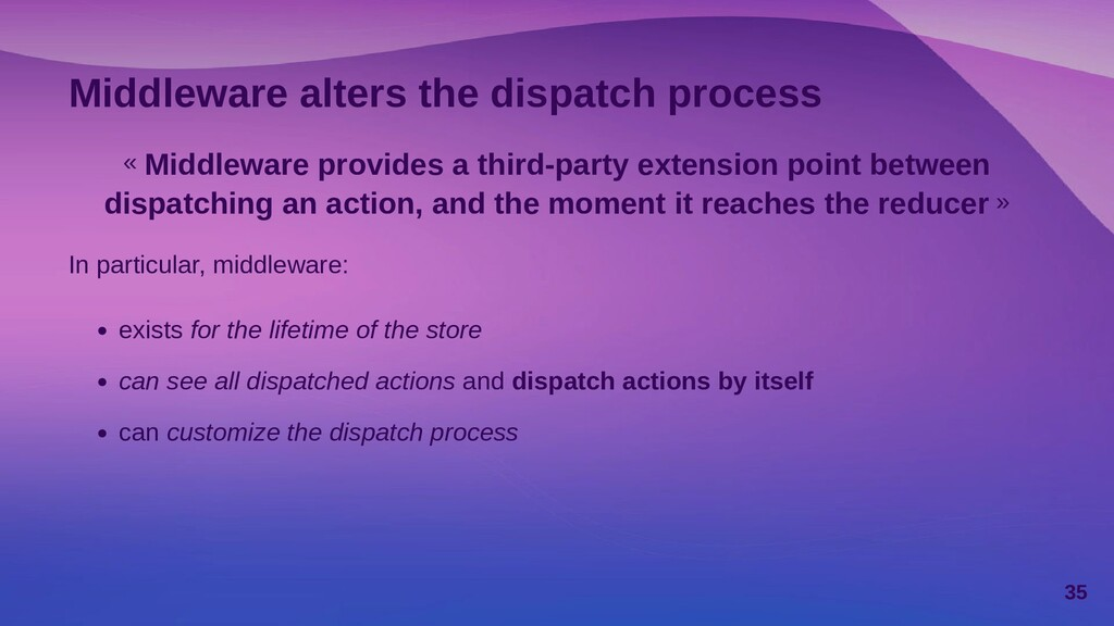 Async actions Async actions are action instance...