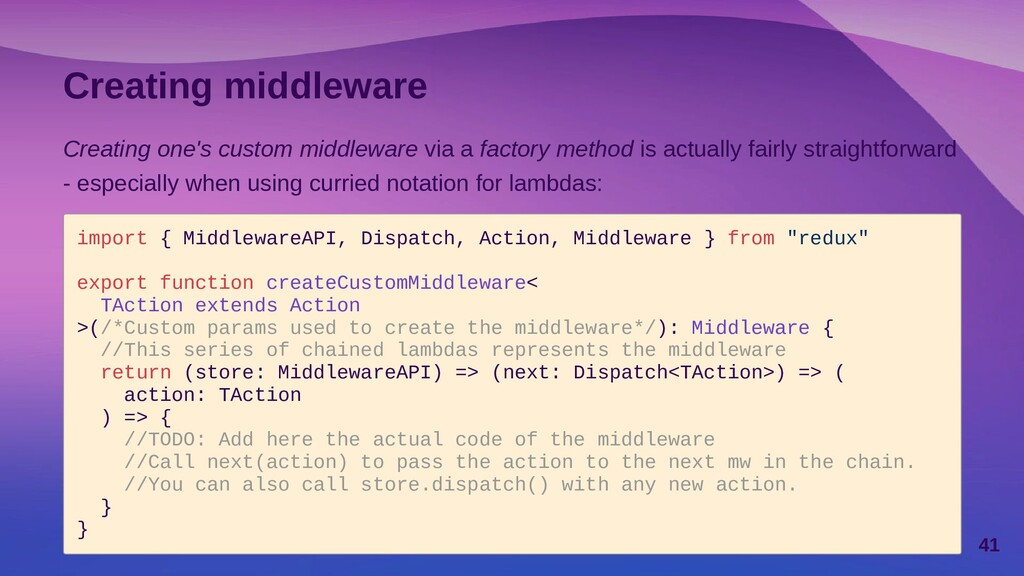 Custom middleware in action Please, refer to th...