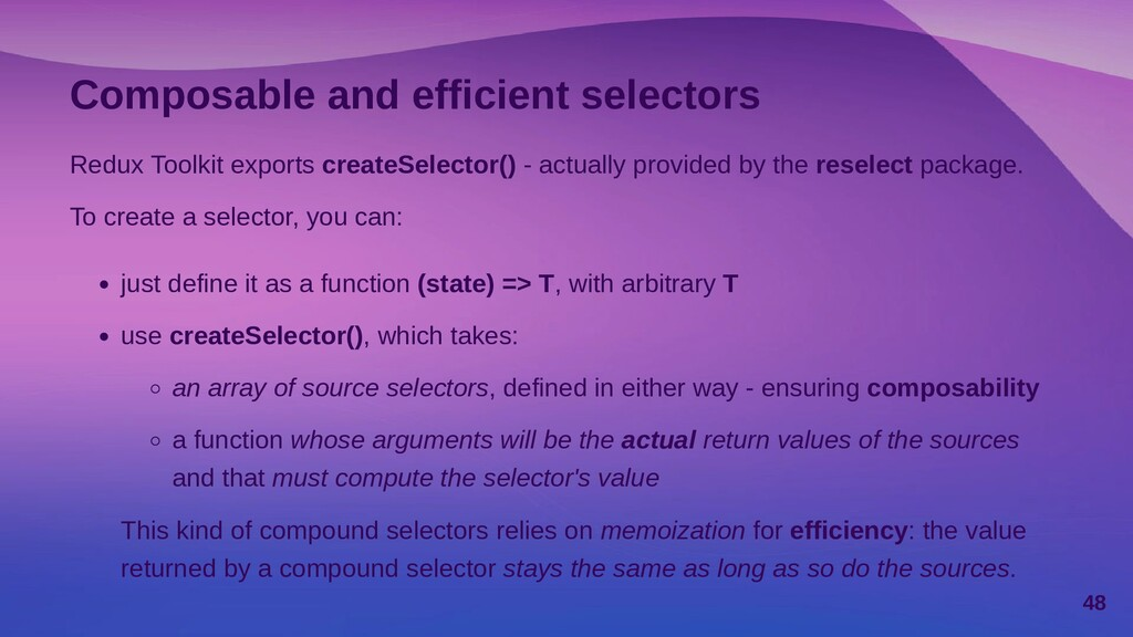 Section 3.2 Simplified actions and reducers