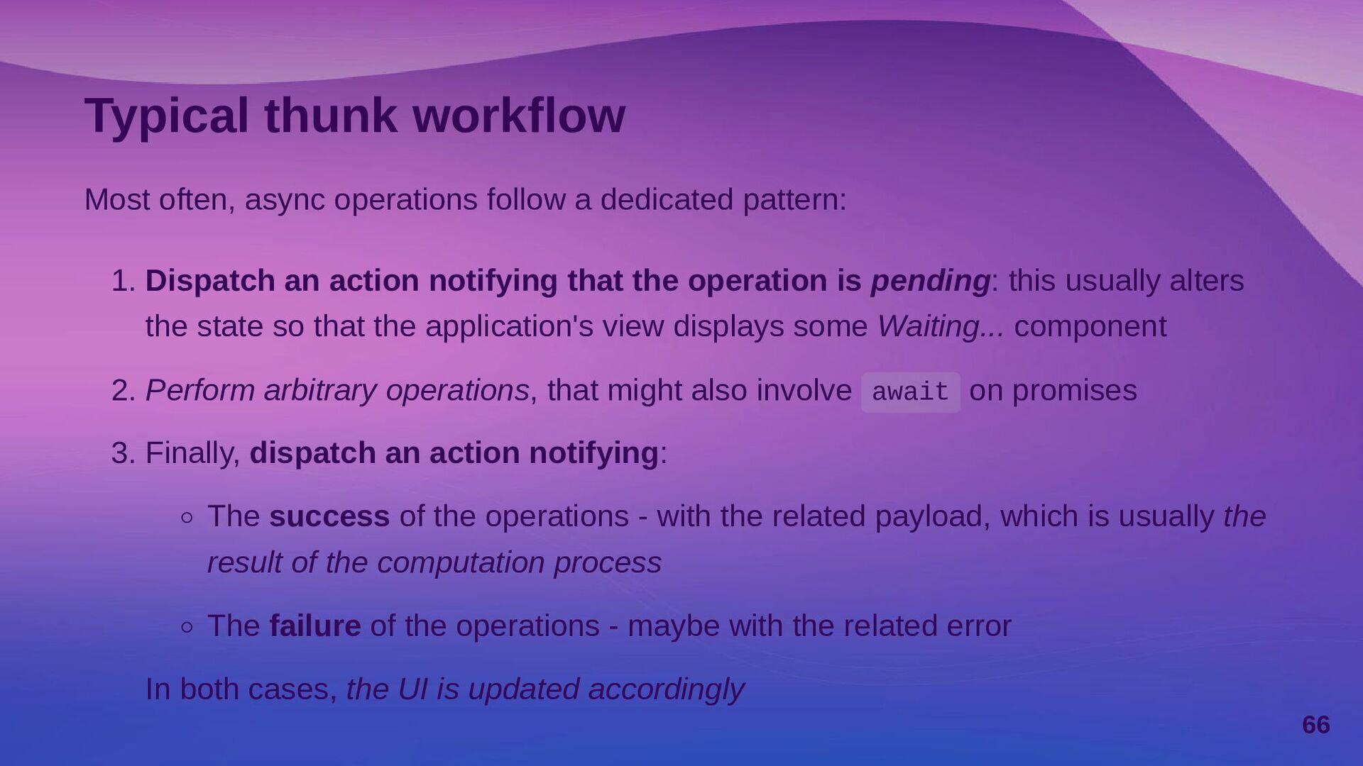 Using createAsyncThunk() createAsyncThunk(), in...