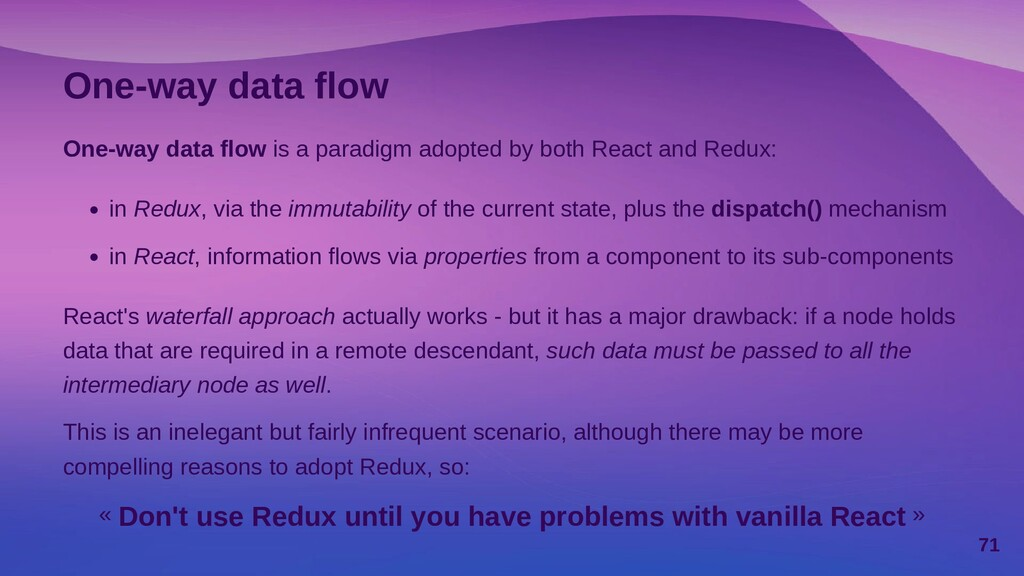 Introducing React Redux « React Redux is the of...