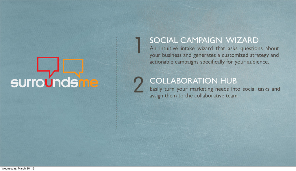 2 1 SOCIAL CAMPAIGN WIZARD An intuitive intake ...