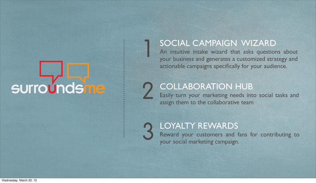 3 LOYALTY REWARDS Reward your customers and fan...
