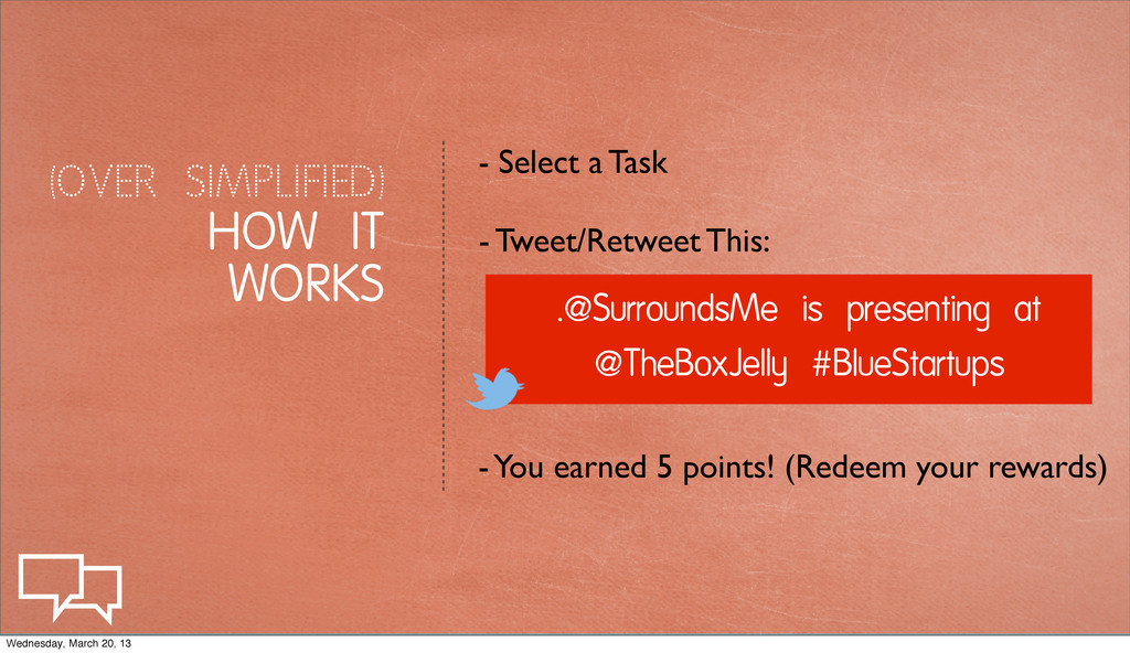 (OVER SIMPLIFIED) HOW IT WORKS .@SurroundsMe is...