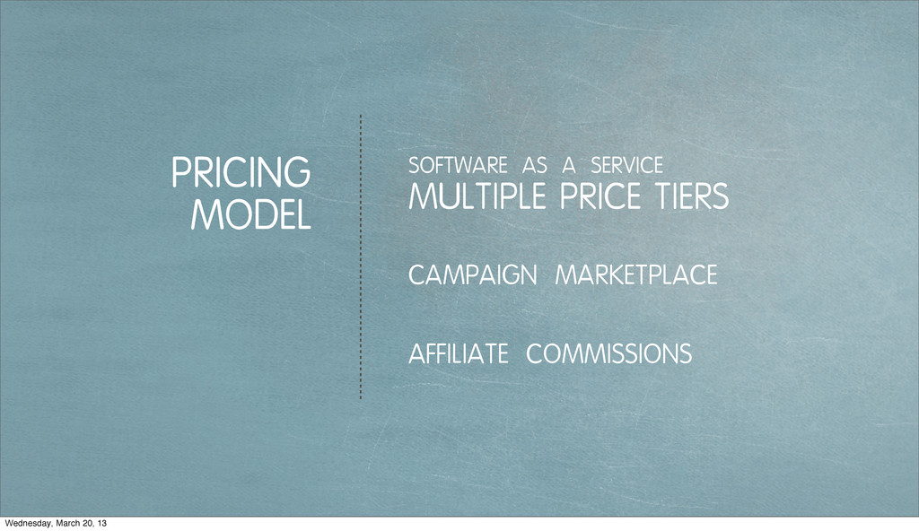 PRICING MODEL MULTIPLE PRICE TIERS SOFTWARE AS ...