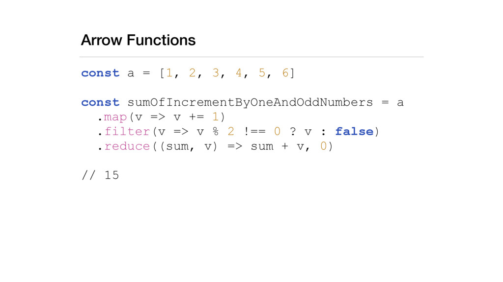 Arrow Functions const a = [1, 2, 3, 4, 5, 6] co...