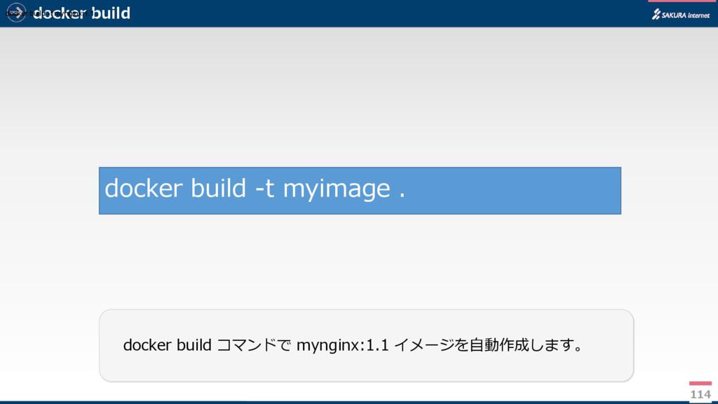 docker build 114 docker build コマンドで mynginx:1.1...