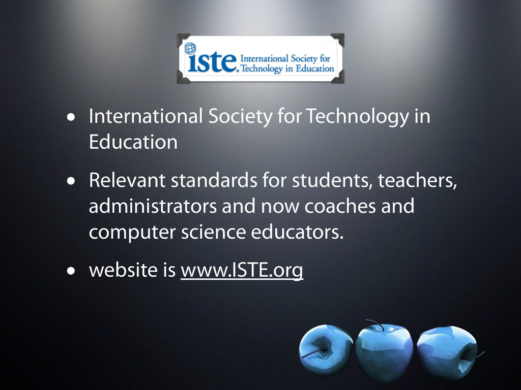 • International Society for Technology in Educa...