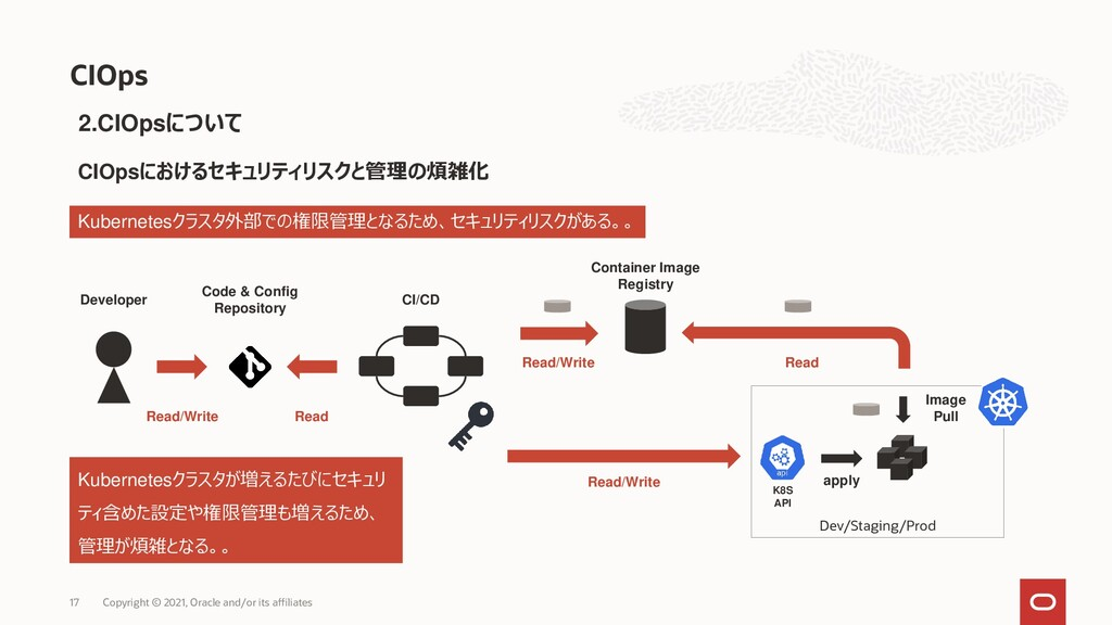 Dev/Staging/Prod 17 Copyright © 2021, Oracle an...