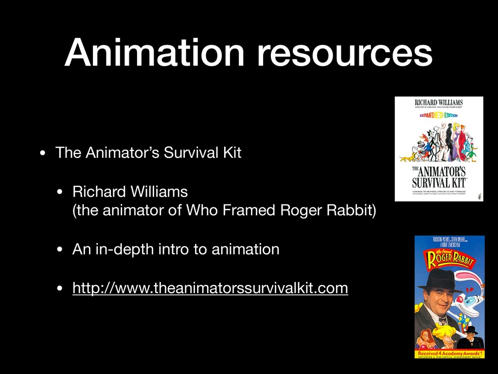 Animation resources • The Animator's Survival K...