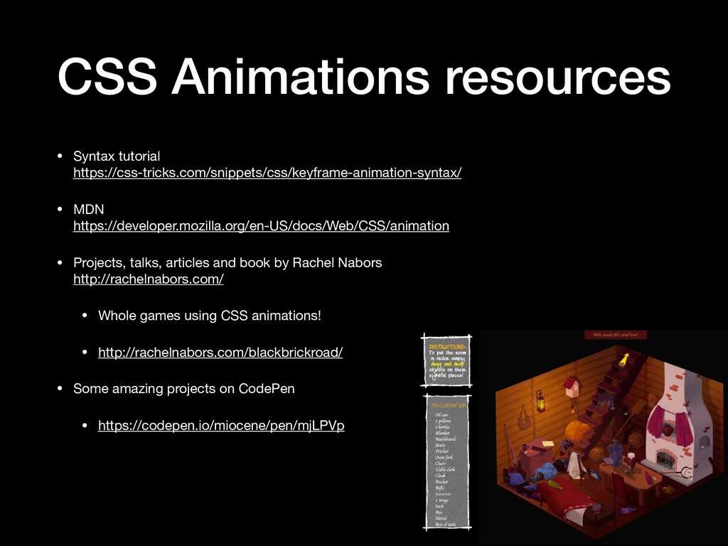 CSS Animations resources • Syntax tutorial