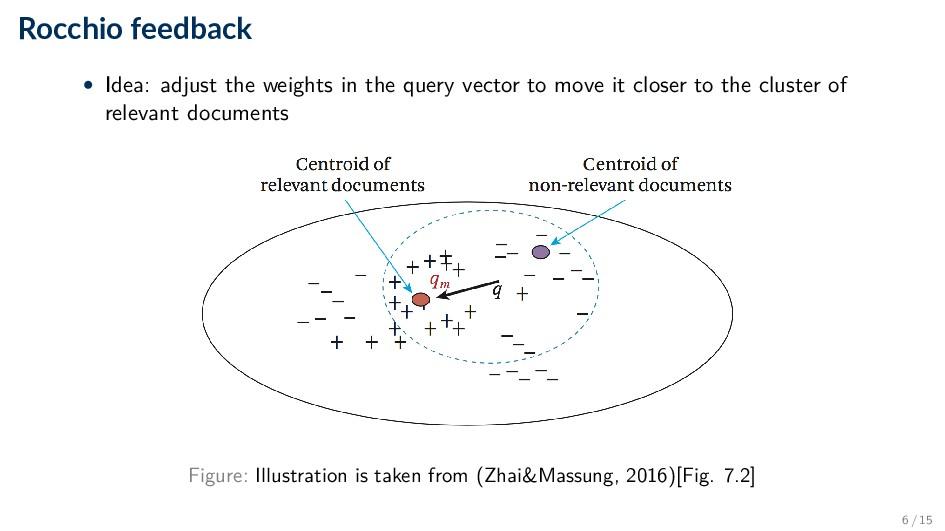 Rocchio feedback • Idea: adjust the weights in ...