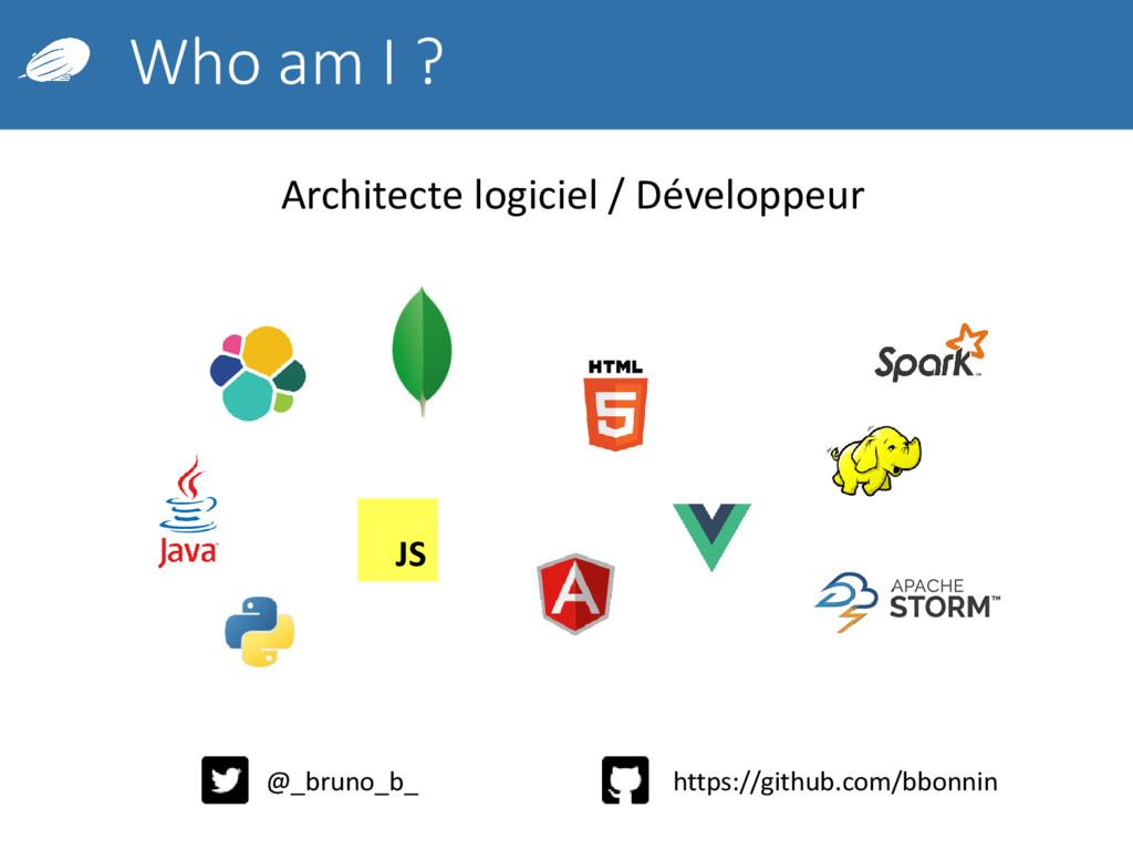 Who am I ? Architecte logiciel / Développeur JS...