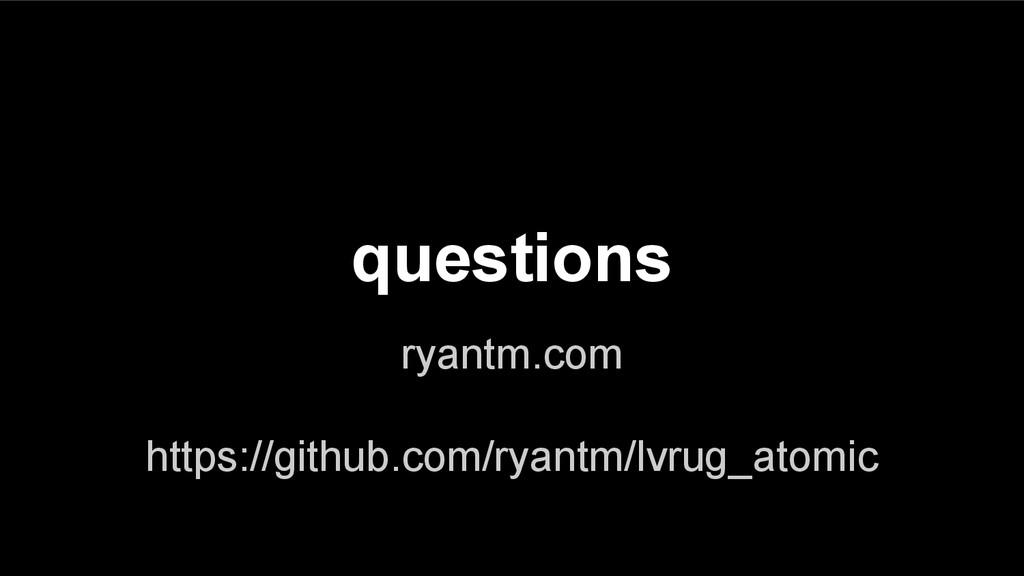 questions ryantm.com https://github.com/ryantm/...
