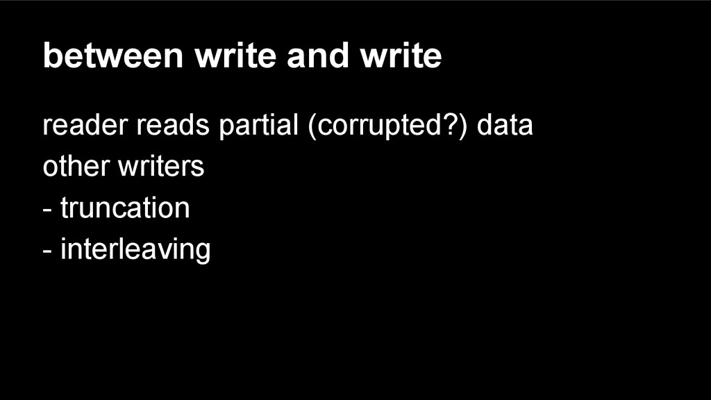 between write and write reader reads partial (c...