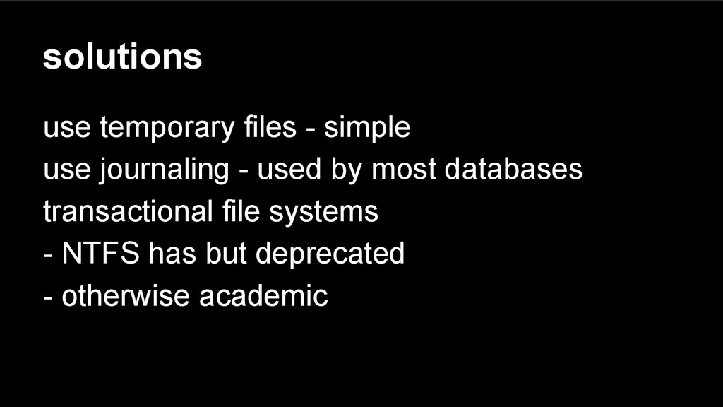 solutions use temporary files - simple use jour...