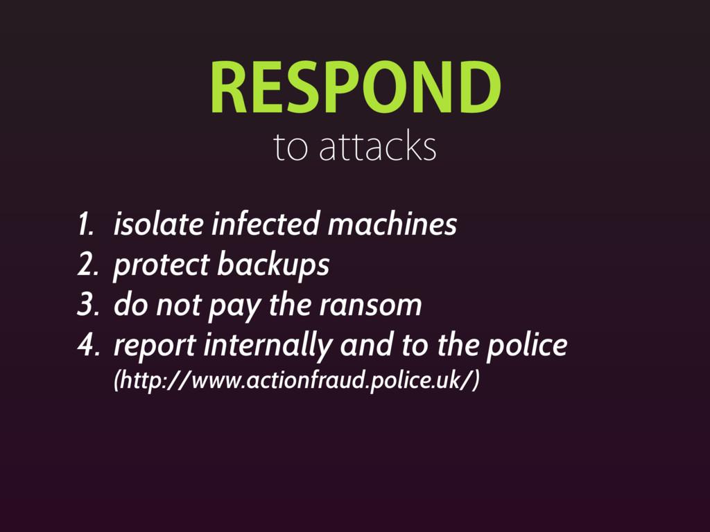 3&410/% UPBUUBDLT 1. isolate infected machines...