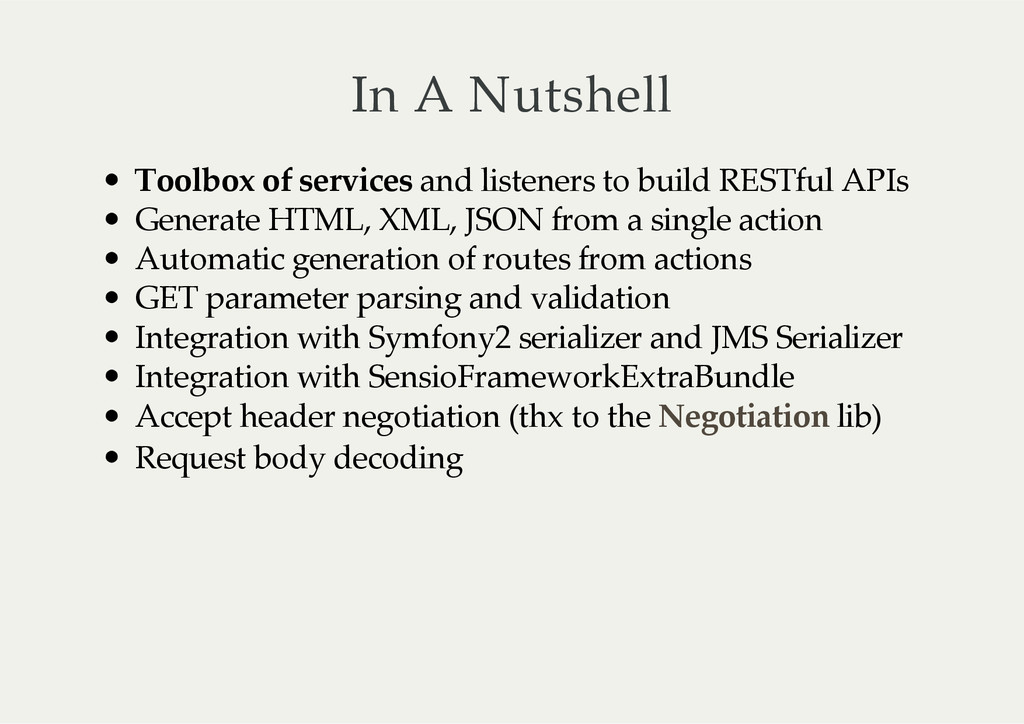 In  A  Nutshell Toolbox  of  services  and  lis...