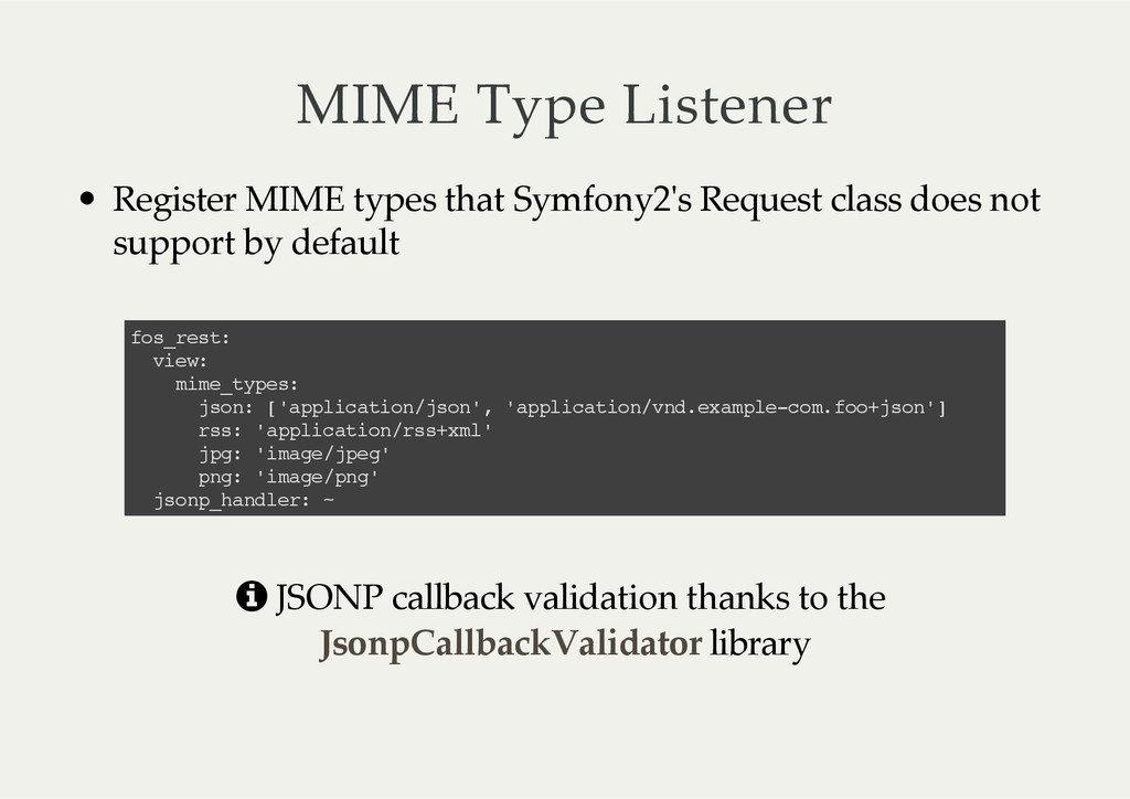 MIME  Type  Listener Register  MIME  types  tha...