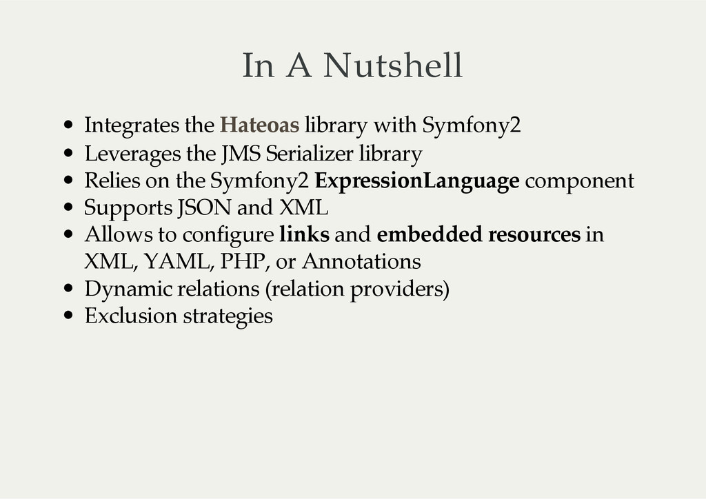 In  A  Nutshell Integrates  the     library  wi...
