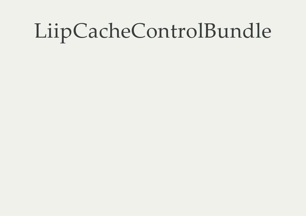 LiipCacheControlBundle