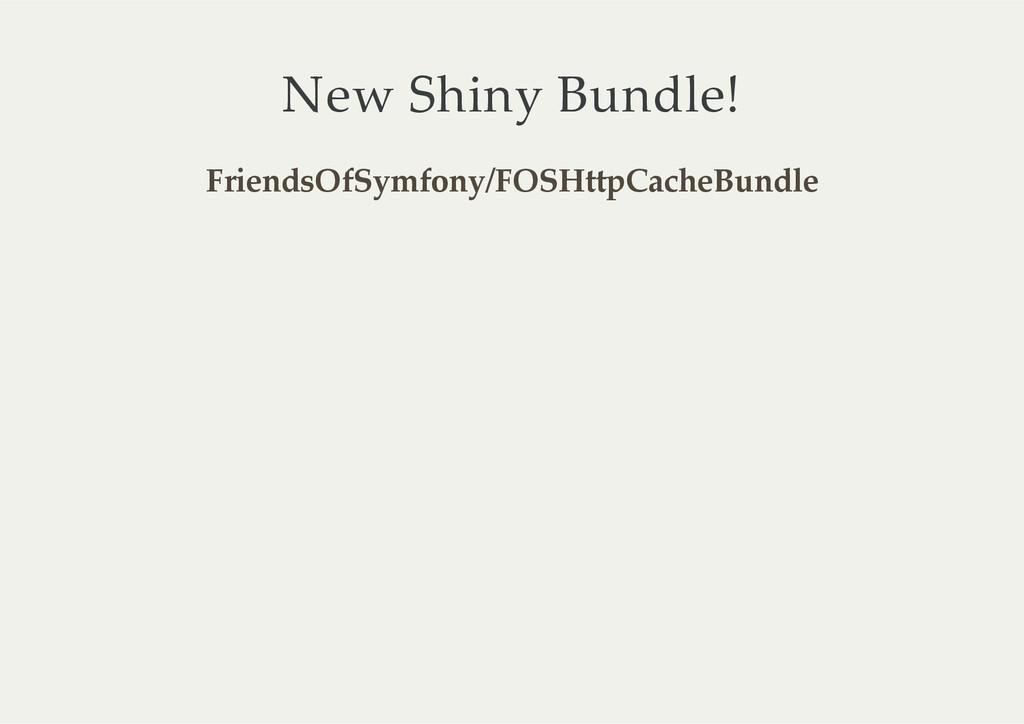 New Shiny Bundle! FriendsOfSymfony/FOSHttpCac...