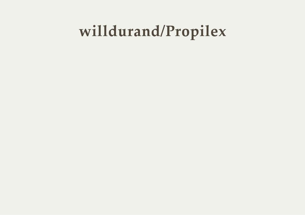 willdurand/Propilex