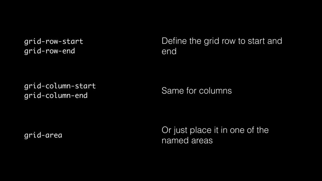 grid-row-start grid-row-end Define the grid row ...